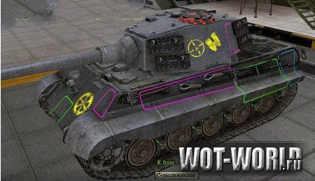 Шкурки с зонами пробития для World of Tanks 0.8.2