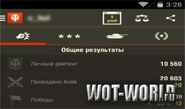WOT Assistant v.1.7.2 для Android, iOS